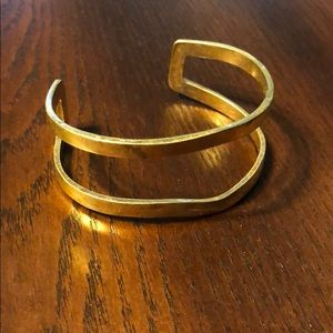 Hammered finish gold bangle from Stitch Fix